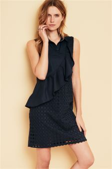 Ruffle Broderie Dress