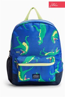 Joules Blue Dinosaur Backpack