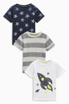 Rocket T-Shirt Three Pack (3mths-6yrs)