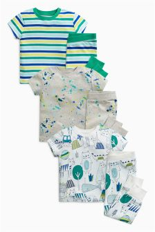 Splat Short Sleeve Pyjamas Three Pack (9mths-8yrs)