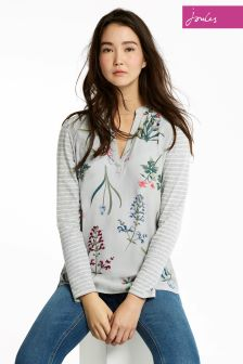 Joules Silver Beatrice Top