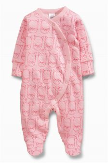 Cat All Over Print Sleepsuit (0mths-2yrs)