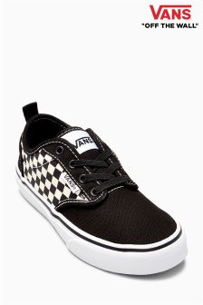 Vans Black/White Checkers Atwood Slip On