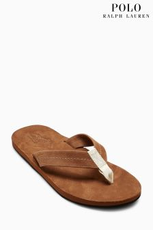 Ralph Lauren Tan Edgemont Toe Post Sandal