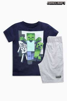 Minecraft Short Pyjamas (3-12yrs)