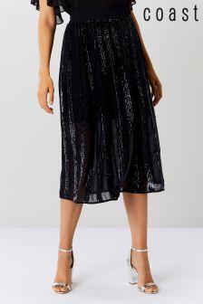 Coast Blue Joey Sequin Panelled Skirt