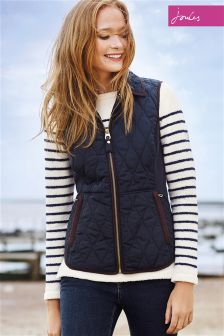 Joules Braemar Navy Quilted Gilet