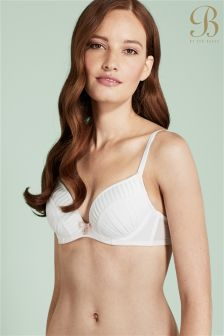 Ted Baker Ivory Pleated Plunge Bra