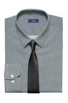 Printed Slim Fit Shirt And Tie Set