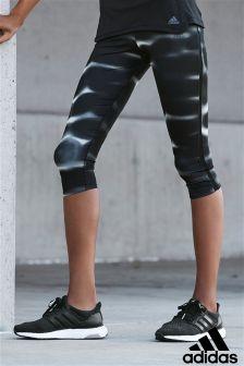 adidas Response Black 3/4 Printed Capri