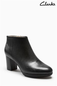 Clarks Black Kelda Nights Cushion Plus Platform Ankle Boot