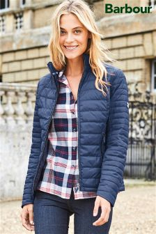 Barbour® Navy Landry Baffle Quilted Jacket