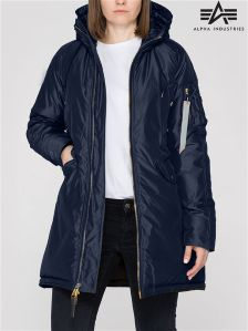 Alpha Industries Blue Exparka Womens Coat