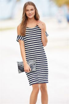 Sequin Stripe Dress