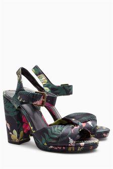 Twisted Platform Sandals