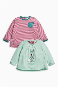 Bunny T-Shirts Two Pack (0mths-2yrs)