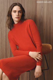 Karen Millen Orange Layered Knit Jumper