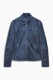 Suede Collared Harrington