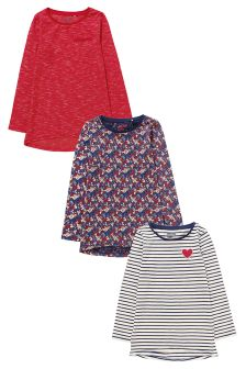 Long Sleeve Top Three Pack (3-16yrs)