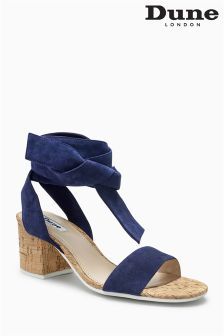 Dune Navy Jonee Wrap Sandal