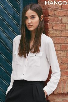 Mango White Lightweight Shirt