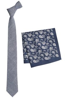 Tie With Pocket Square