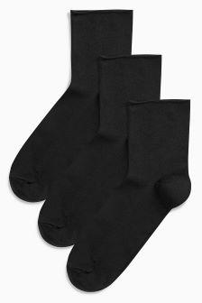 Signature Nylon Socks Three Pack