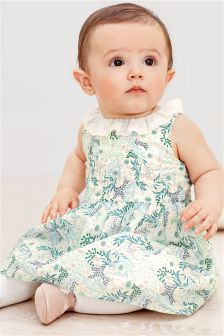 Floral Print Prom Dress And Knickers (0mths-2yrs)