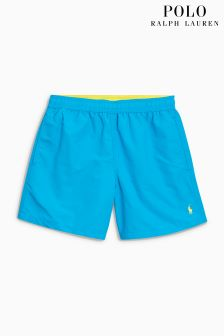 Ralph Lauren Blue Hawaiian Swim Short