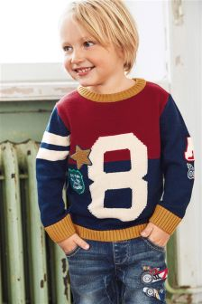 Appliqué 8 Crew Neck Jumper (3mths-6yrs)
