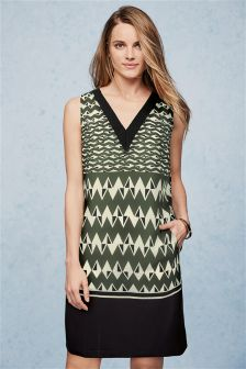 Green Geo Dress