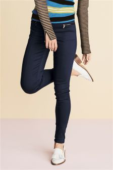 Zip Skinny Trousers