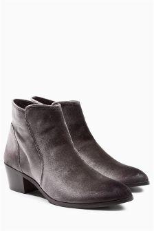 Velvet Western Boots