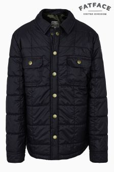 Fat Face Mid Navy Quilted Shacket