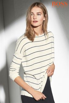 Boss Orange Cream/Navy Stripe Wendelly Jumper