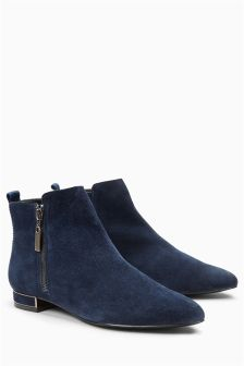 Suede Pixie Ankle Boots