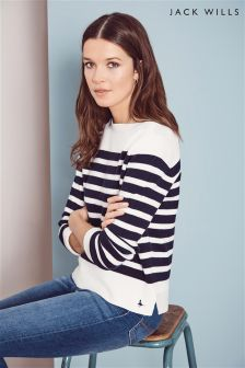 Jack Wills White/Navy Breton Knit