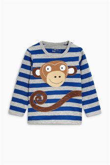 Long Sleeve Monkey Top (3mths-6yrs)
