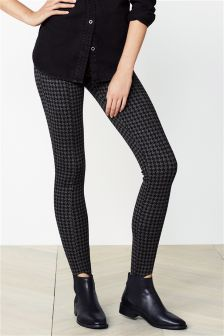 Houndstooth Stirrup Leggings