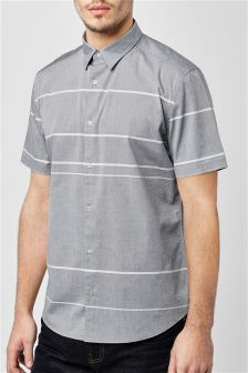 Short Sleeve Horizontal Stripe Shirt