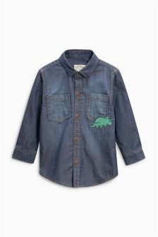 Dinosaur Embroidered Shirt (3mths-6yrs)
