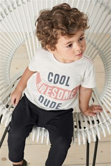 Slogan Short Sleeve T-Shirt and Joggers Set (3mths-6yrs)