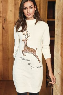 Sequin Reindeer Tunic