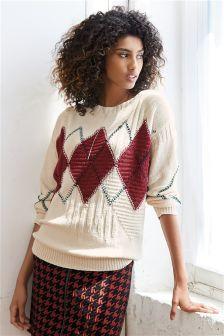 Argyle Pattern Sweater