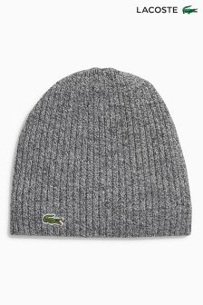Lacoste® Charcoal Marl Beanie