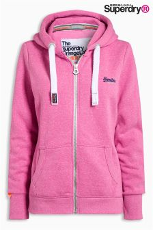 Superdry Pink Orange Label Primary Zip Hoody