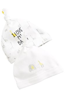 Giraffe Mummy And Daddy Tie Top Hats Two Pack (0-12mths)