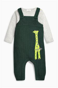 Giraffe Knit Dungarees (0mths-2yrs)