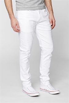 Buy Men's Jeans White from the Next UK online shop