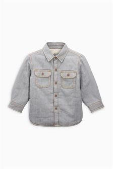 Denim Borg Lined Shirt (3mths-6yrs)